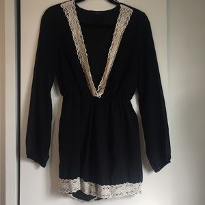 Papaya Black w/ Lace Jumper/Romper